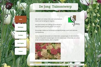 screenshot van de website van tuinontwerper dejongtuinontwerp