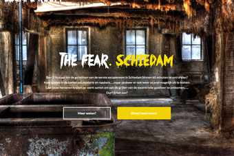 screenshot van de website van eschaperoom the fear in schiedam