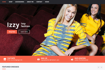 screenshot van een webshop met de naam izzyizzyfashion