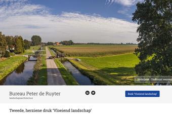 screenshot van de website van een landschapsarchitect uit haarlem