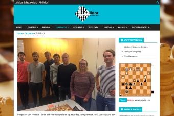 Website van de Leidse Schaakclub Philidor, afbeelding van Philidor 1