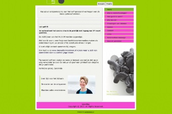 Website van Carolina van der Linden